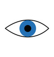 eye look vision optic surveillance concept vector image