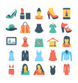 fashion and clothes colored icons 1 vector image vector image