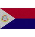 Flags Saint Martin on denim texture vector image vector image