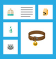 flat icon pets set of bird prison kitty vector image vector image