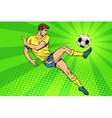 Football has a soccer ball summer sports games vector image vector image