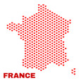 france map - mosaic of valentine hearts vector image vector image