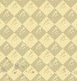 Geometric flower pattern old paper art vector image vector image