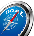 goal compass vector image vector image