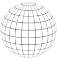 graticule globe Meridian and parallel vector image vector image