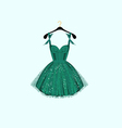 Green party dress vector image vector image