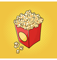 hand drawn pop art of popcorn vector image vector image