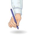 hand pen vector image