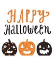 happy halloween cute greeting card vector image vector image