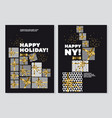 happy new year and xmas concept poster template vector image