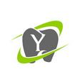 healthy dental care letter y vector image vector image