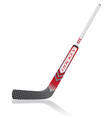 hockey stick for goalie vector image vector image