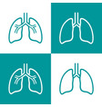 human lungs line icon set vector image vector image