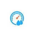 hygrometer icon on white vector image vector image