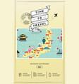 japanese famous landmarks website template vector image vector image