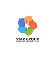 logo star group colorful style vector image