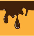 melted chocolate drips - seamless horizontal vector image