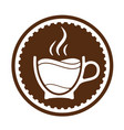 morning cup of coffee for waking up logo or vector image