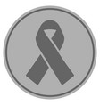 mourning ribbon silver coin vector image vector image