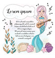 music mermaid school autumn sea underwater vector image vector image