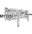 myths word cloud concept vector image vector image