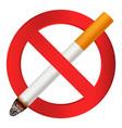 no smoking cigarette icon realistic style vector image