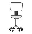 office chair icon black and white vector image vector image