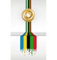 Olympic games gold medal banner vector image vector image