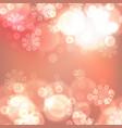 orange christmas lights background vector image vector image