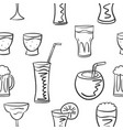 pattern style drink various collection vector image vector image