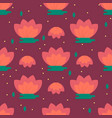 pattern with chinese lotus vector image vector image