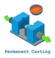 Permanent casting metalwork icon isometric 3d
