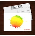 Postcard with watercolor abstract background vector image vector image