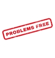 Problems Free Rubber Stamp vector image vector image