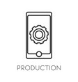 production isolated icon mobile gadget or vector image