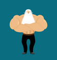 retired athlete strong grandfather fitness old vector image
