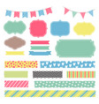 scrapbook decoration graphic elements cute vector image vector image
