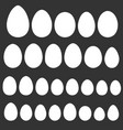 set egg shape template for easter holiday vector image