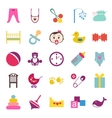 Set of colorful baby item icons vector image