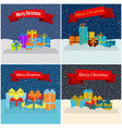 set of four new year vector image vector image