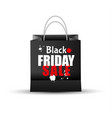 shopping paper black friday sale bag empty vector image vector image