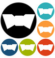 simple bow tie icon vector image