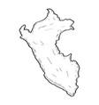 sketch of a map of peru vector image vector image