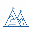 Ski Mountain Icon vector image vector image