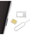 Smartphone Small Nano Sim Card Sim Card Tray and vector image vector image