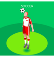 Soccer Header 2016 Summer Games 3D Isometric vector image vector image