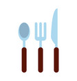 spoon fork knife cutlery icon image vector image vector image