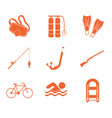 sport and recreation icons set vector image