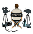 stage director on set pop art vector image vector image