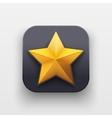 Star icon Symbol of Crown on dark backdrop vector image vector image